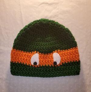 Ninja Turtles Crochet Hat Michaelangelo